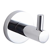 Chrome Finish Solid Brass Robe Hook With Round Base Cylinder Bolt