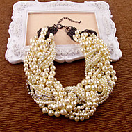 Women's Intertwined Pearl Necklace