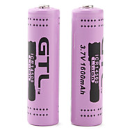 gtl 3.7v rechargeable icr14500 14500 li-ion rechargeable (2-Pack, 1600mAh)