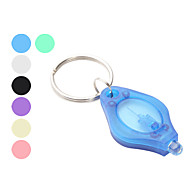 7-color White Light 22000 mcd LED Flashlight Keychain (Small, 10-pack)