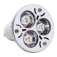 Focos MR16 GU10 3 W 3 LED de Alta Potencia 270 LM Blanco Natural AC 85-265 V
