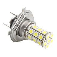H4 5050 SMD 27-LED 1.44W 260MA White Light Bulb for Car (DC 12V)