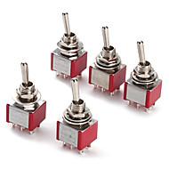 Interrupteur à bascule pour 6p électronique bricolage (5 pièces par paquet)