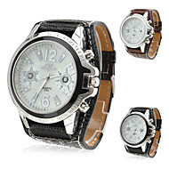 Unisex's PU Analog Quartz Wrist Watch (Assorted Colors) Cool Watch Unique Watch Fashion Watch