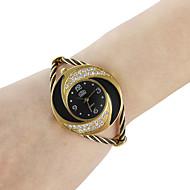 Dames Modieus horloge Armbandhorloge Kwarts Legering Band Glitter Bangle armband Zwart Wit Blauw Rood Roze PaarsZwart Paars Rood Blauw