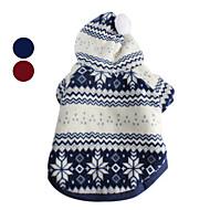 Cani Felpe con cappuccio - Inverno - Natale / Capodanno - Rosso / Blu - di Cotone - XS / M / XL / S / L