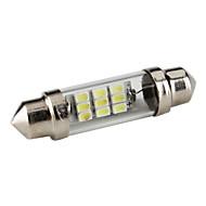 41mm 0.5W 9x1206 SMD White Light Festoon LED Bulb for Car (DC 12V)