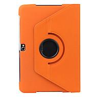 Mert Samsung Galaxy Note Állvánnyal / Flip / 360° forgás Case Teljes védelem Case Egyszínű Műbőr Samsung Note 10.1
