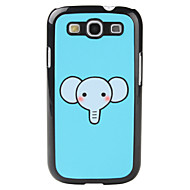 Cartoon Stijl Elephant Pattern Hard Case voor Samsung Galaxy S3 I9300