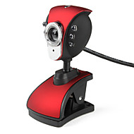 Pheonix 6-LED 5,0 Megapixels USB 2.0 Microfone Clip-on câmera webcam com PC