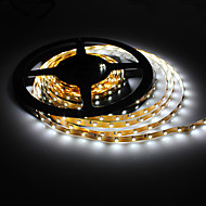 5M 5W 300x3528 SMD White Light Flexible LED Strip Lamp (DC 12V)