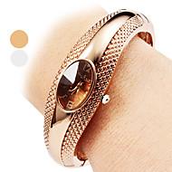 Dames Modieus horloge Armbandhorloge Vrijetijdshorloge Kwarts Legering Band Bangle armband Elegante horloges Zilver Brons
