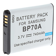 dijital video pil samsung Samsung TL105 için BP70A ve daha fazla (3.7V, 740 mah) değiştirin