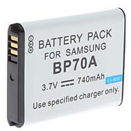 Digital Video Accu vervangen Samsung BP70A voor Samsung TL105 en meer (3,7 V, 740 mAh)