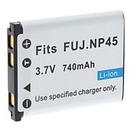 digital video batteri ersätter fuji.np45 för FUJ J250 J150 j130 och mer (3.7v, 1200 mAh)