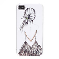 Lady modello Custodia rigida per iPhone 4/4S