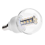 Lampadine globo LED 30 SMD 5050 G60 E14 6W 450 LM Bianco caldo AC 85-265 V