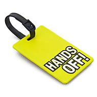 Étiquette de bagage de voyage - Hands Off (Jaune)