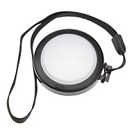 Mennon 37mm Caméra Blanc Couverture Cap Solde objectif avec dragonne (noir et blanc)