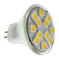 1.5W GU4(MR11) LED Spotlight MR11 12 SMD 5050 160 lm Warm White DC 12 V