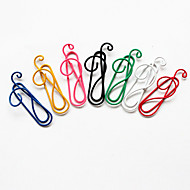estilo de la nota musical colorido clips (color al azar, 10-pack)