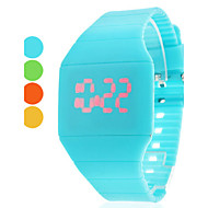 Women's Watch Fashion Touch Screen Red LED Digital Candy Color