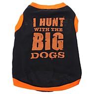 개 티셔츠 블랙 강아지 의류 모든계절/가을 문자와 숫자