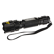 Sipik CK66 3-Mode del Cree XR-E Q5 LED Flashlight (200LM, 1x18650, Negro)