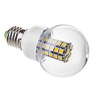6W E26/E27 LED gömbbúrás izzók G60 47 SMD 5050 530 lm Meleg fehér AC 220-240 V