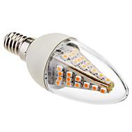 3W E14 LED Candle Lights C35 48 SMD 5050 230 lm Warm White Decorative AC 220-240 V