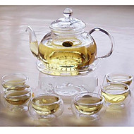 Exquisite Glas-Teekanne Tea Set