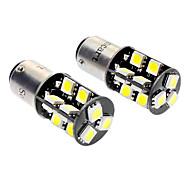 1157 / BA15d 3.5W 19x5050smd 6000-6500k 220-260lm lâmpadas LED carro Luz Branca (DC 12V, 1 par)