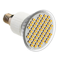 E14 3.5W 60x3528SMD 180-240LM 3000-3500K Warm White Light LED Spot Bulb (85-265V)