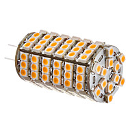 G4 6W 102x3528SMD 420-450LM 3000-3500K Warm White Light LED Corn lamppu (12V)