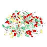3 mm y 5 mm Diodo emisor de luz - verde + rojo + amarillo (paquete de 100 piezas)