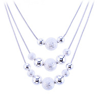 Women's Statement Necklaces Silver Sterling Silver Alloy Snake Fashion White Jewelry Daily 1pc
