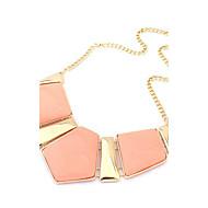 collar de la geometría de metal de color rosa