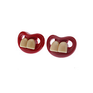 Red Creative Funny Teeth Personality Pacifier Soother Nipple (Random Color)