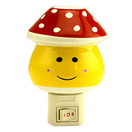 Red Dots Mashroom la luce di notte del LED (110V-240V)
