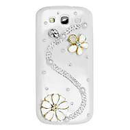 S Muoto ja kukkakuvio Hard Case kanssa tekojalokivi Samsung Galaxy S3 I9300