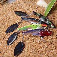 New Diseñado Pesca colorida 3-Hooks con giro en forma de pez de metal reluciente Lure (10g, 15g, color ramdon)