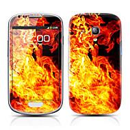 Brand Patroon Voor-en Back Protector Stickers voor Samsung Galaxy S3 mini I8190