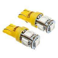 T10 Araba Sarı Koyu Sarı 5W SMD 5050 Yan Lambalar