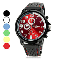 Heren Horloge Kwarts Sporthorloge Silicone Band
