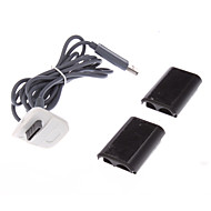 USB의 2 종류의 X 박스 360 무선 컨트롤러를 위해 위탁 케이블 코드
