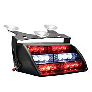 18x bleu LED rouge pompier SME véhicule personnel dash d'urgence voyant