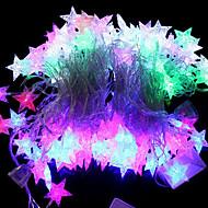32-LED 6M Waterproof EU Plug Outdoor Christmas Holiday Decoration Sea Star Shape RGB Light LED String Light (220V)