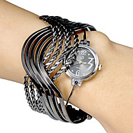 Women's Multi-Strand Rings Bangle Design Black Dial Quartz Analog Bracelet Watch