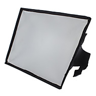 20 x 30 cm flash portable softbox diffuseur pour 600EX 580EX 430EX sb-910 à 700 sb HVL-F58AM F42AM sb-900 (noir)