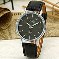 Unisex Simple Dial Quartz Analog Pu Leather Band Wrist Watch